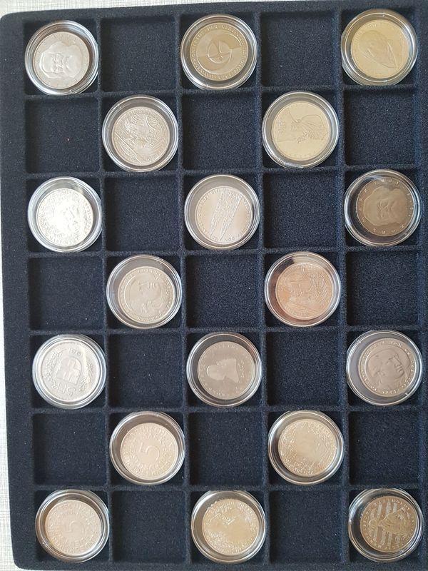 5 Dm Münzen 2x Silber 1x5 Franken U 15x 5dm Gedenkmünzen In