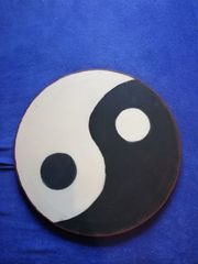 YingYang auf Leinwand selbstgestaltet