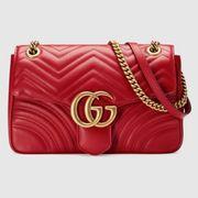 Gucci marmont Tasche Rot Leder