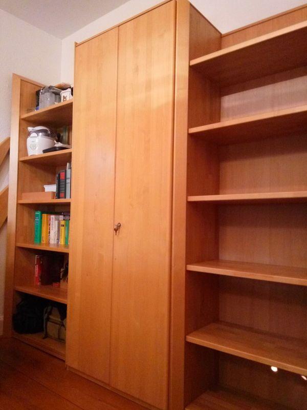 Top Büromöbel Schreibtisch Büroschrank Erle massiv (Korpus Fronten ...