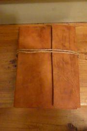 Lederbuch handgegerbt mit