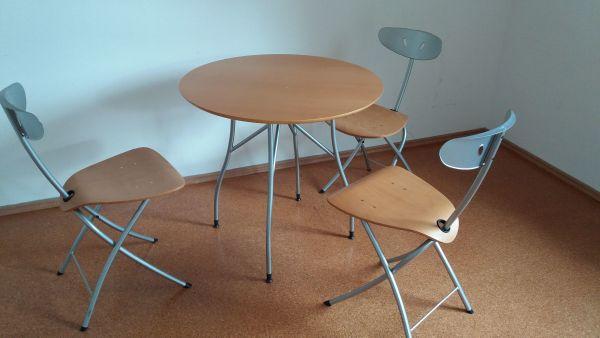 Hervorragend Esstisch Garnitur   Klappbarer Tisch Rund D
