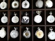 30 versilberte wunderschöne taschenuhren im