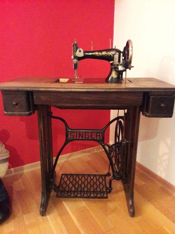 alte singer n hmaschine echtholz gebraucht kaufen bei. Black Bedroom Furniture Sets. Home Design Ideas