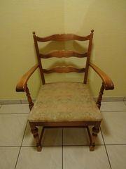 50-er Jahre Armlehnstuhl mit gepolsterer