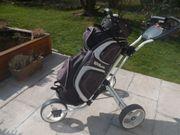 Golftrolley und Cartbag