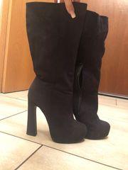 Stiefel High Heels schwarz 39