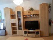 Komplettes Wohnzimmer, Schrankwand,