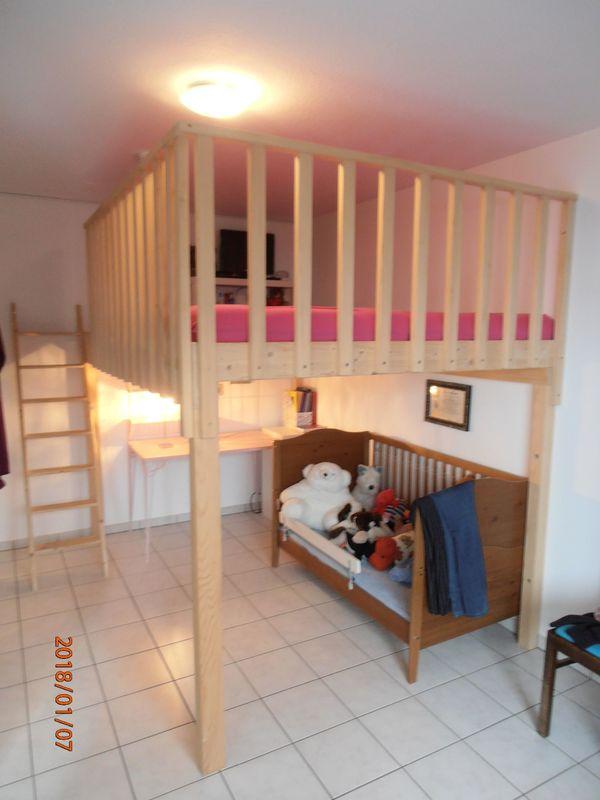 Hochbett Schreiner hochbett hochetage doppelbett holz schreiner 180 cm breit in