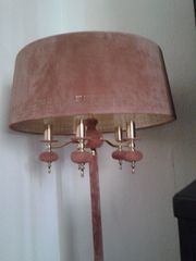 Stehlampe - Messing/Samt