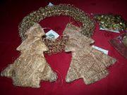 Weihnachtsdeko Gold, Adventskranz,