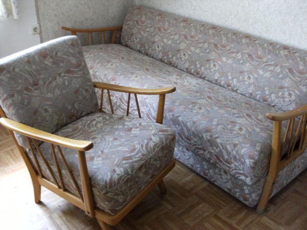 Alte Schlafcouch Retro Liebhaberstuck Couch Sofa Schlafsofa In