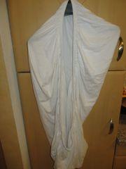 Spannbett Tuch weiß