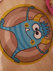 Kinderzimmer Teppich Kids Monster blau