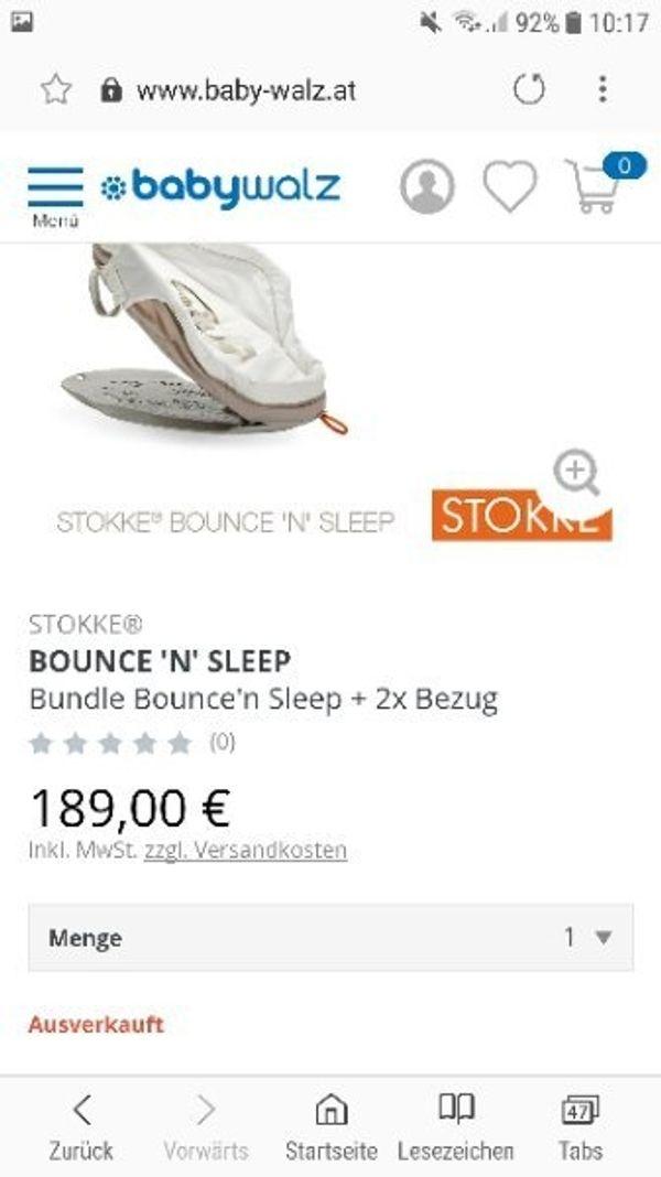Letzter Preis Stokke Bounce N Sleep Komplett Set In