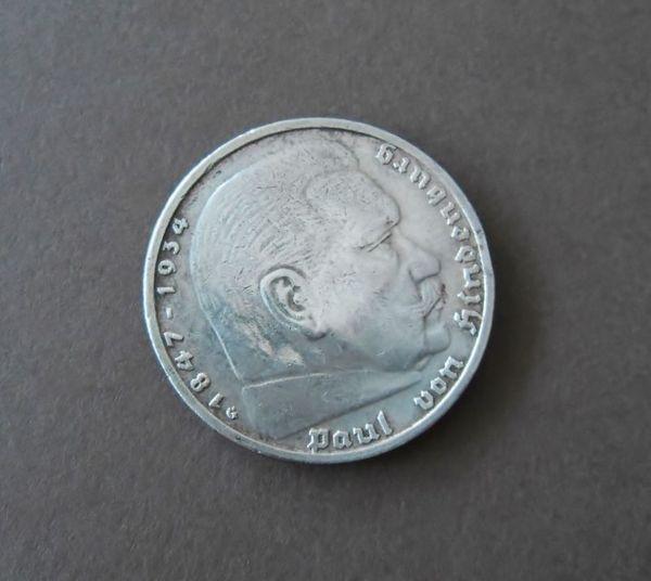 5 Mark 1930 Hindenburg Silber Münze Deutsches Reich Silbermünze 1939