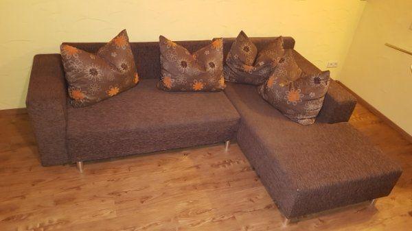 Couch Sofa Braun Ausziehbar Tier Und Rauchfreier Haushalt In