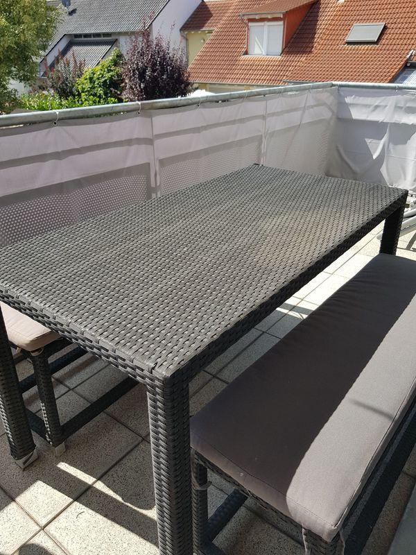 Garten Balkon Tisch Schwarz Aus