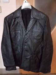 Lederjacke - schwarz - Größe 29