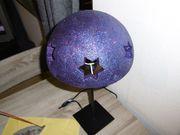 Tischlampe mit Sternenmuster Unikat eigenes