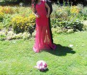 Pinkes Abendkleid Gr 36 38