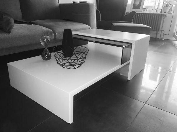 h lsta couchtisch tisch schwarz wei glas in mannheim. Black Bedroom Furniture Sets. Home Design Ideas