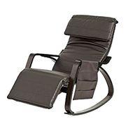 Schaukelstuhl mit Tasche verstellbares Fussteil