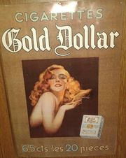 BLECHSCHILD MARKE GOLD DOLLAR CIGARETTES