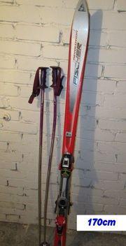 Fischer Ski 170cm mit Stöcken