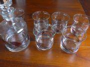 Tiffany Karaffe mit 6 Whiskey