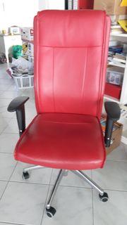 roter Bürostuhl Schreibtischstuhl