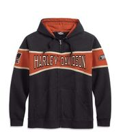 Harley-Davidson schwarze Kapuzenjacke Race Stripe
