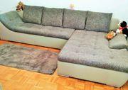 Couch mit Bettkasten und Schlaf-Funktion