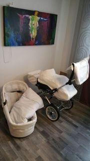 Kinderwagen mit Buggy Wechselaufsatz