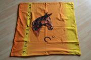 Verkaufe Fleece-Bettwäsche-Set für Kinder Pferdemotiv