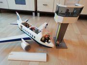 Playmobil Flugzeug mit Tower