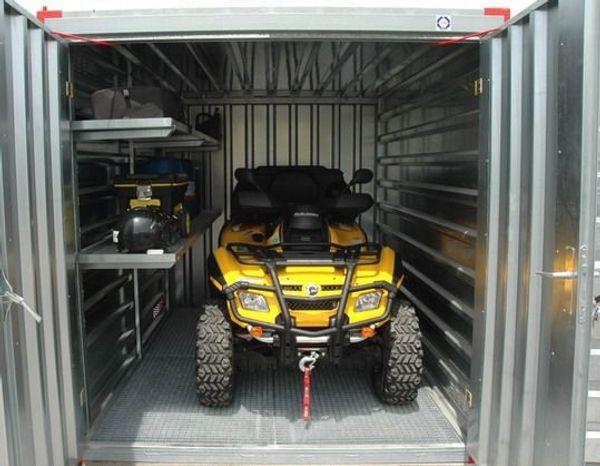 Motorrad-Garage