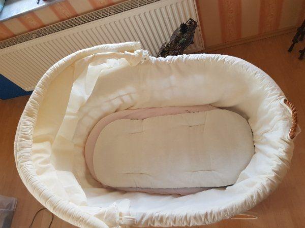Stubenwagen babybett wiege große räder weiß in rheinland pfalz