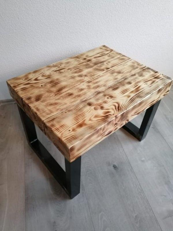 Couchtisch Massiv Holz Stahl Rustikal In Gaggenau Couchtische
