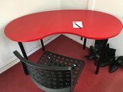 Ikea Nierentisch Rot Schreibtisch Tisch