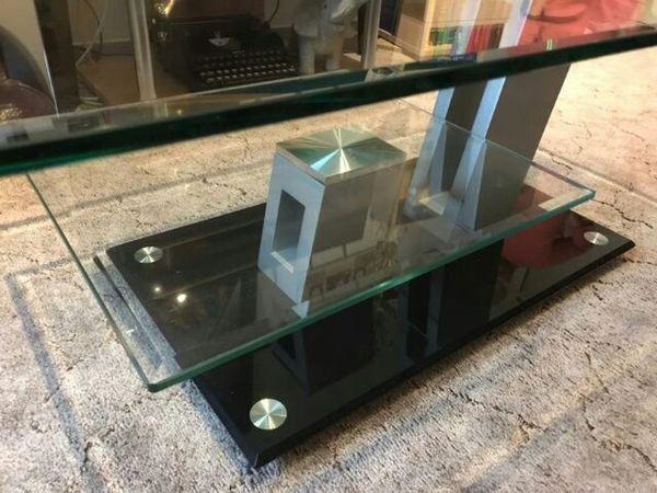 couchtisch glas wei gebraucht kaufen nur 2 st bis 65. Black Bedroom Furniture Sets. Home Design Ideas