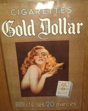 BLECHSCHILD MARKE GOLD DOLLAR CIGARETTES - RAR