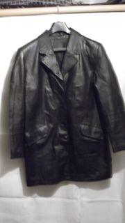 Lederjacke schwarz Gr 44 hüftlang