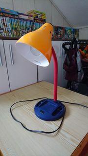 orange Schreibtischlampe