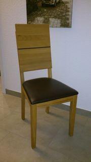 4 Esszimmerstühle, Massivholz