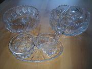 Kristall-Glasschalen