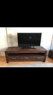 3 Wohnzimmermöbel aus Holz dunkelbraun