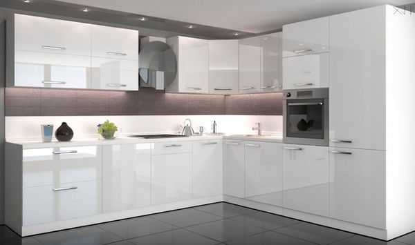 Amica Kühlschrank Poco : Küche weiß hochglanz inkl. arbeitsplatte u. e geräte von amica in