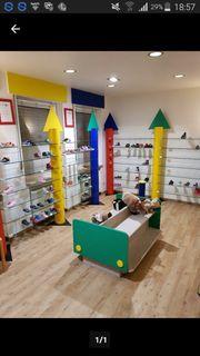 Ladenausstattung - hochwertiges Schuhregal-System Schuhgeschäft