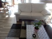 Echtleder Sofa weiß 2 Sitzer